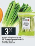 Organic Celery Hearts Each Or PC Organics Romaine Hearts 3's