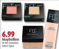 Maybelline Fit Me Cosmetics
