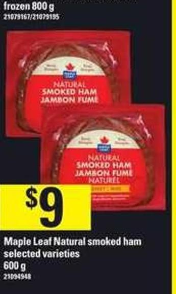 Maple Leaf Natural Smoked Ham - 600 g