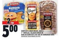 Dempsters Grain Breads - Bagels - 7in Tortillas - Villaggio Bread Or Buns Or Dempster's Hot Dog Or Hamburger Buns