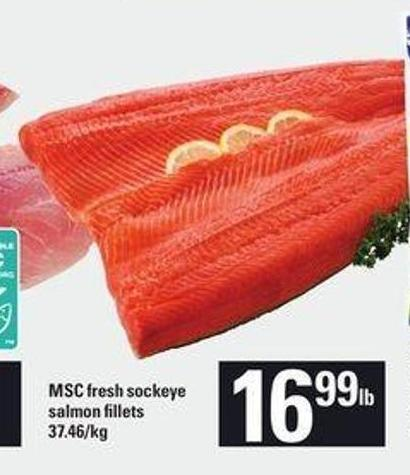 Msc Fresh Sockeye Salmon Fillets