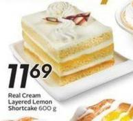 Real Cream Layered Lemon Shortcake