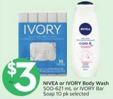 Nivea or Ivory Body Wash