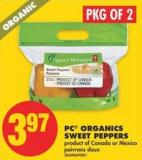 PC Organics Sweet Peppers - Pkg of 2