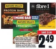Nature Valley Or Fibre 1 Bars - Betty Crocker Fruit Snacks