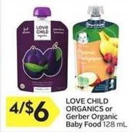 Love Child Organics or Gerber Organic Baby Food