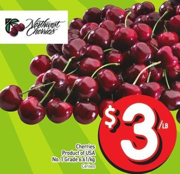 Cherries Product of USA No. 1 Grade 6.61/kg