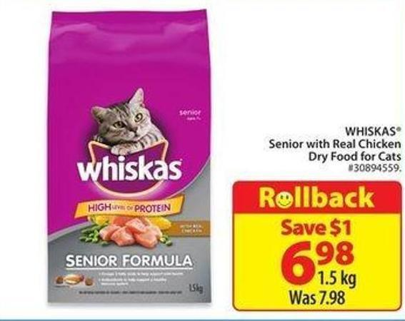 Whiskas Senior With Real Chicken Dry Food Cat