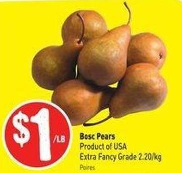 Bosc Pears Product of USA Extra Fancy Grade 2.20/kg