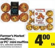 Farmer's Market Muffins - 6's or PC Mini Muffins - 12's