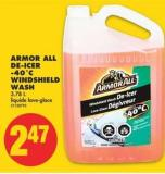 Armor All De-icer -40˚c Windshield Wash - 3.78 L