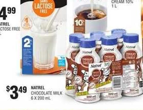 Natrel Chocolate Milk 6 X 200 mL