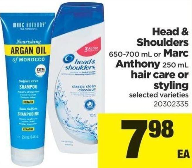 Head & Shoulders - 650-700 Ml Or Marc Anthony - 250 Ml Hair Care Or Styling