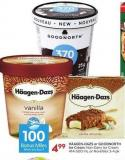 Häagen-dazs or Goodnorth Ice Cream - Non-dairy Ice Cream 414-500 mL or Novelties 3-4 Pk - 100 Air Miles Bonus Miles
