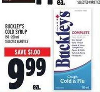 Buckley's Cold Syrup