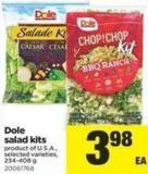 Dole Salad Kits - 234-408 g