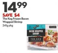 The Keg Frozen Bacon Wrapped Shrimp 241g Pkg