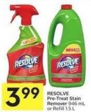 Resolve Pre-treat Stain Remover 946 mL or Refill 1.5 L