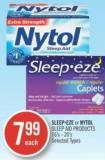 Sleep. or Nytol Sleep Aid Products 16's-20's