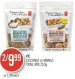 PC Coconut or Mango Trail Mix 250 G
