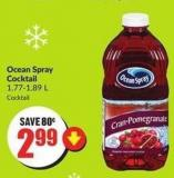 Ocean Spray Cocktail