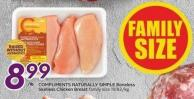 Compliments Naturally Simple Boneless Skinless Chicken Breast