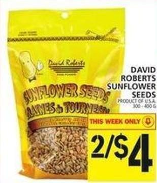David Roberts Sunflower Seeds