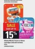 Gillette Mach3 - Fusion Or Venus Cartridges - 4-8's