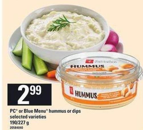 PC Or Blue Menu Hummus Or Dips - 190/227 g