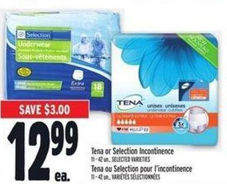Tena Or Selection Incontinence