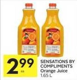 Sensations By Compliments Orange Juice 1.65 L