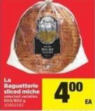 La Baguetterie Sliced Miche - 600/800 g