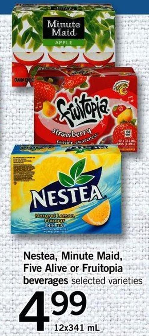 Nestea - Minute Maid - Five Alive Or Fruitopia Beverages - 12x341 Ml