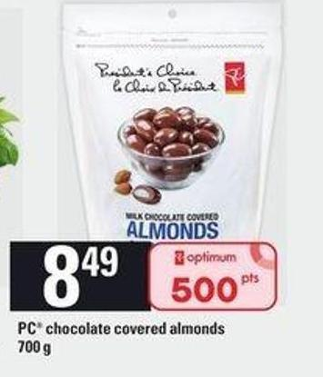 PC Chocolate Covered Almonds 700 G
