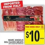 Marc Angelo Deli Sliced Meats