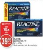 Reactive Allergy Tablets 84's-124's