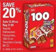 Nestlé Halloween Favourites - 100-ct or Twizzlers Candy - 90-ct