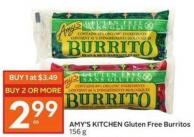 Amy's Kitchen Gluten Free Burritos 156 g