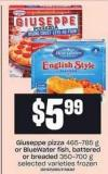 Giuseppe Pizza - 465-785 G Or Bluewater Fish - Battered Or Breaded - 350-700 G
