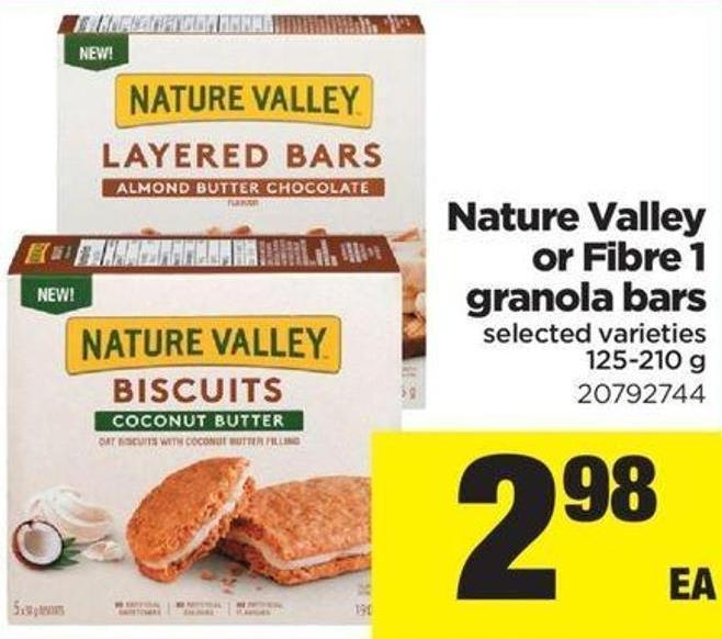 Nature Valley Or Fibre 1 Granola Bars - 125-210 g