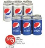 Pepsi Mini Cans 6 X 222ml