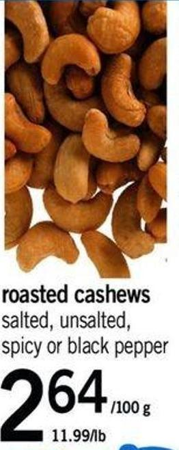 Roasted Cashews - 11.99/lb