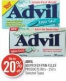 Advil Ibuprofen Pain Relief Products 80's - 250's