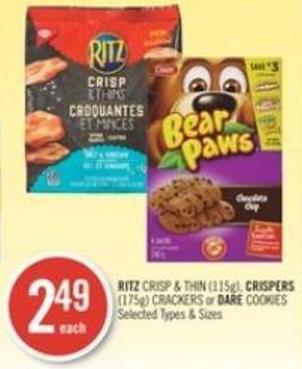 Ritz Crisp & Thin (115g) - Crispers (175g) Crackers or Dare Cookies
