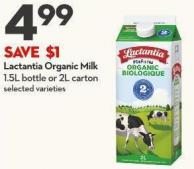 Lactantia Organic Milk 1.5l Bottle or 2l Carton