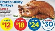 Whole Turkey Utility Grade - 7-9 Kg