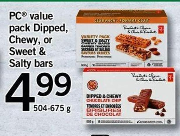 PC Value Pack Dipped - Chewy - Or Sweet & Salty Bars
