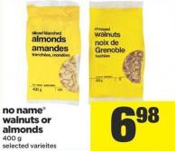 No Name Walnuts Or Almonds - 400 g