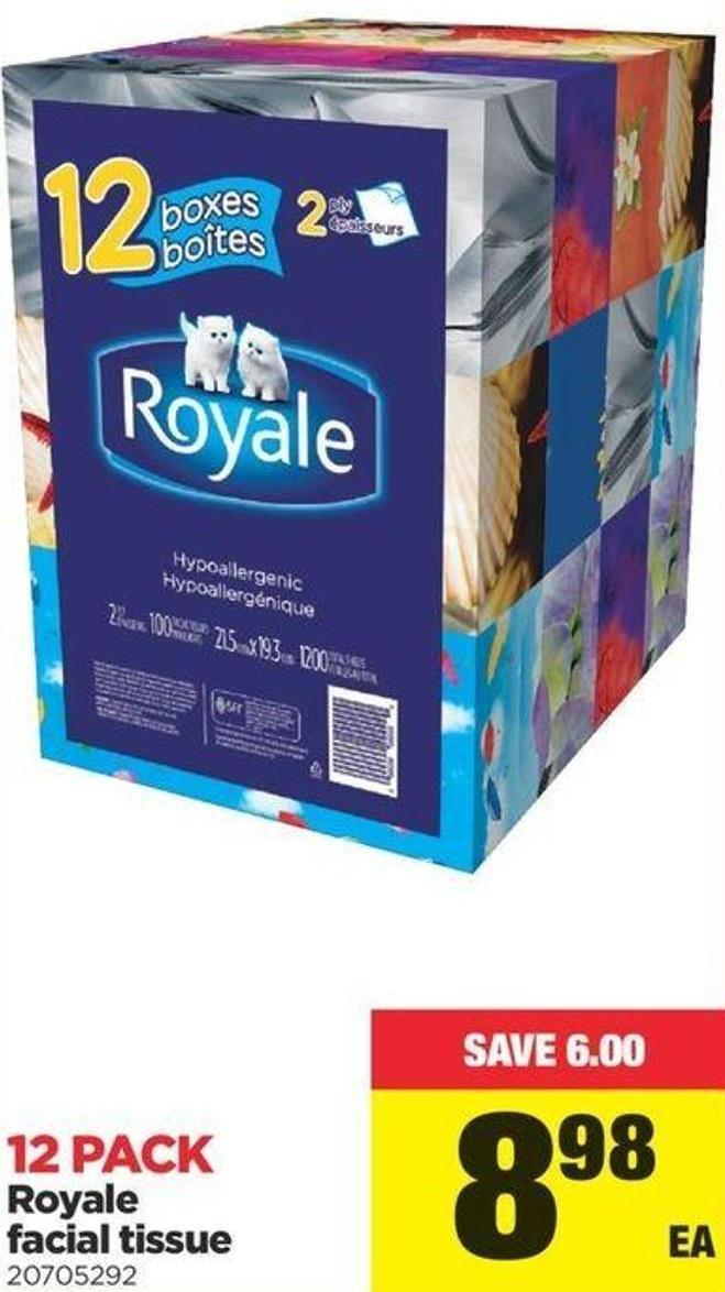 Royale Facial Tissue - 12 Pack