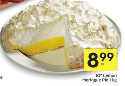 10in Lemon Meringue Pie